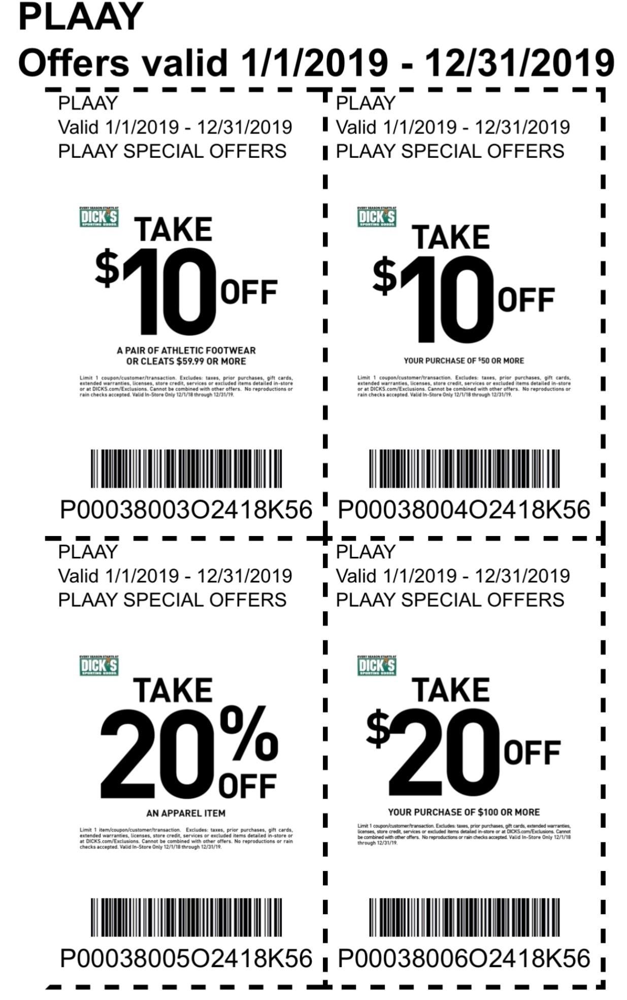 dicks coupons